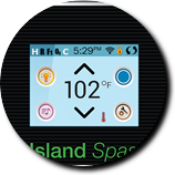 Island touchpad